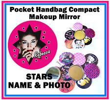 PERSONALIZZATO - Borsetta/TASCABILE Make-Up Specchietto compatto - Foto & NOME -