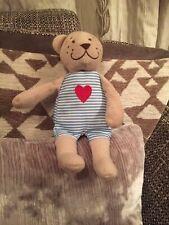IKEA Fabler Bjorn Soft Plush Toy Bear In Striped Blue & White Pyjamas Comforter