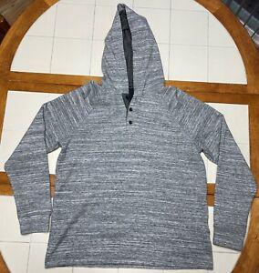 Marc Anthony 3 Button Hoodie Sweatshirt Pullover Mens Slim Fit Medium