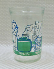 Tom and Jerry The Movie Welch's Jelly Jar Glass 1993 Blue Green Clear 8 oz.