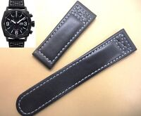 24mm Genuine leather band strap (FITS) ORIS Aviation BC4 chronograph 674 7633