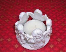 Loza cerámica círculo de 5 Ángeles Sostenedor De Vela Artesanales Diam. 9 CMS