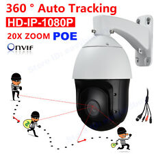 Security HD IP 1080P Auto Tracking PTZ Camera POE ONVIF Laser IR 300M 20X ZOOM