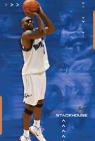 New Costacos NBA Washington Wizards Jerry Stackhouse Wizardry Poster 22.5 x 35