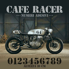 Numero adesivo vintage Cafe Racer Scrambler tracker moto pegatinas  stickers