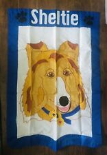 """Large 32×47.5"""" Outdoor Flag (Sheltie) By Evergreen Enterprises Great Quality!"""