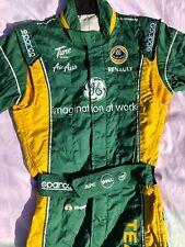 KARUN CHANDHOK LOTUS F1 TEAM RACE USED RACE SUIT✔️GENUINE FIA HOMOLGATED SUIT✔️