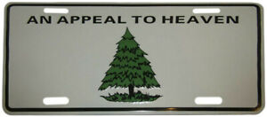 """An Appeal To Heaven Washington Cruisers 6""""x12"""" License Plate Sign"""