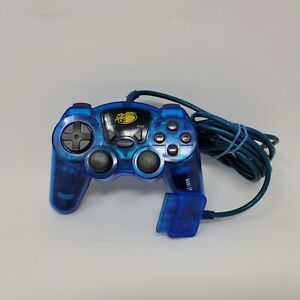 Playstation 2 PS2 Mad Catz Blue Wired Dual Force Controller Tested and Works