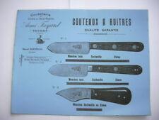 buvard couteaux à huitres coutellerie aimé fayard thiers