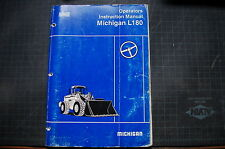 VOLVO Michigan L180 WHEEL LOADER Operator Manual front end book owner operation