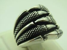 Turkish Handmade Jewelry 925 Sterling Silver Claw Design Men's Ring Sz 9