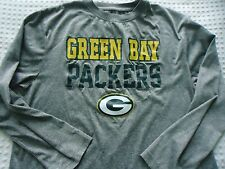 Boy's size XL 14-16 Gray Long Sleeve Green Bay Packers Football  NFL Tee Shirt