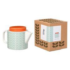 Orla Kiely Ceramic Teapot - Linear Stem Duck Egg - New & Boxed
