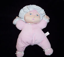 Bed Time Babies Pink Sleeper Bonnet Baby Doll 1999 Plush Cloth Sculpted Soft
