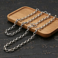Fine 925 Sterling Silver Buddhist Sutra Rolo Link Chain Necklace -Choose Length