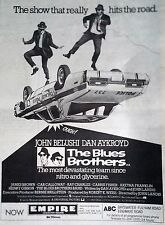 THE BLUES BROTHERS - ORIGINAL PRESS ADVERT FOR THE MOVIE FROM SOUNDS 25/10/80