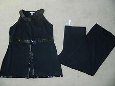 Women's Black Dressy Top & Black Pants Size 16/18 1X-NWT