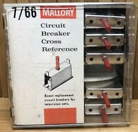 Lot of 8 Vintage Mallory Circuit Breakers For Television Sets TV Repair Parts