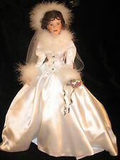 "Bride Doll,  Porcelain,  ""Winter Romance"" by Sandra Bilotto - 1996"