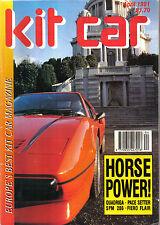 Kit Car 4/91 Pilgrim Sumo JZR MTX 4RS Pontiac Fiero Pyhton Roadster Quantum PACE