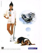 PUBLICITE ADVERTISING  1994   REEBOOK  vetements de Sport baskets M.JOSE PEREC
