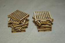 O scale laser cut pallet kit, makes 12 wood pallets for MTH Lionel Weaver trains