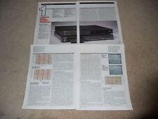 Technics Review SU-A8, SE-A7 Amp, Pre, 4 pg, 1982