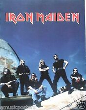 "IRON MAIDEN ""ED HUNTER"" 2-SIDED U.S. PROMO POSTER -Group On Old Airplane & Cover"
