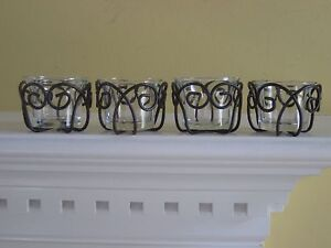 Southern Living at Home Estate Collection Jamestown Votives set of 4 #40642 NEW