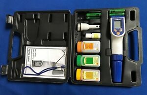 pH/mV/ORP/Cond/TDS/Salt/Temp-Water Proof Tester w/Carrying case Accessories