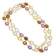 925 Sterling Silver Amethyst Bezel Connector Chain,Rose quartz Chain,Topaz Chain
