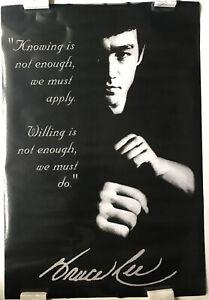 Bruce Lee Vintage  Motivational Quote Poster