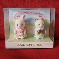 Sylvanian Families WILDFLOWER RABBIT SOYOKAZE BREEZY CAT BABY PAIR Grinpa