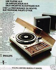 Publicité Advertising 1972 Hi Fi Platine Enceintes Philips