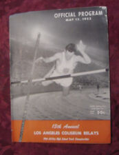 May 15 1953 Los Angeles Coliseum Relays Track & Field Meet Official PROGRAM