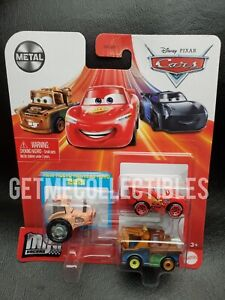 DISNEY PIXAR CARS MINI RACERS TRACTOR TIPPIN' SERIES MATER MCQUEEN 3 PACK $15+