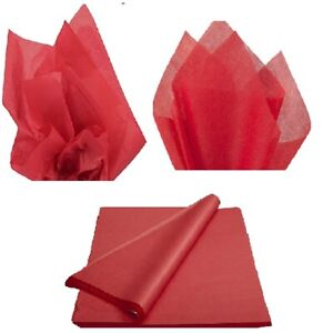 QUALITY RED TISSUE PAPER LARGE ACID FREE SHEETS BIO 50x75cm GIFT WRAP PARTY