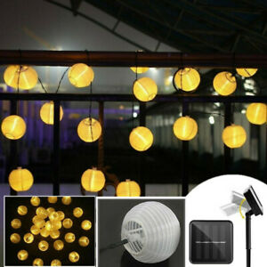 30 LED Solar String Ball Lights Outdoor Garden Decor LED String Ball Waterproof