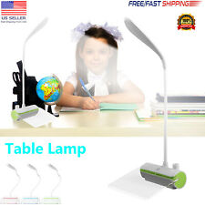 LED Desk Lamp Reading Light Table Dimmable Flexible Rechargeable + Message Board
