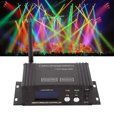 2.4GHZ WIRELESS DMX512 LCD TRANSMITTER RECEIVER LED STAGE LIGHT CONTROLLER EU