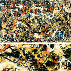 """54W""""x34H"""" CONVERGENCE by JACKSON POLLOCK - DRIP PAINTING CHOICES of CANVAS"""