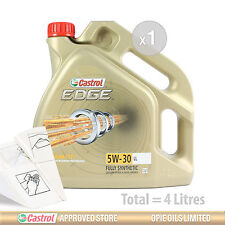 Engine Oil Service Kit: 4 litres of Castrol EDGE 5w30 FST eng oil