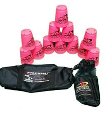 Speed Stacks Cups Official Stacking Pink 12pc Lot and Carry Bags WSSA