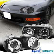 1994-1997 Acura Integra Replacement JDM Black Dual Halo Projector Headlights