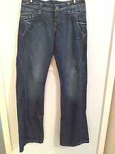 Replay Wide Leg Dark Wash Jeans Size 29 x 36