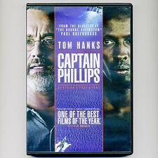 Captain Phillips 2014 PG-13 movie DVD, No UV, pirates, Tom Hanks, US Navy SEALs