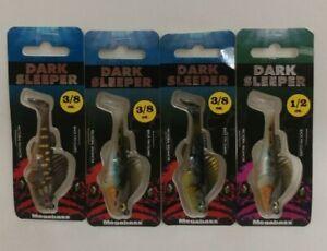 (4) Megabass Dark Sleeper Swimbait Fishing Lures Lot of 4