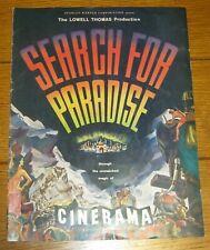 "Cinerama  ""Search For Paradise"" Souvenir Program  1957  RARE!!!"