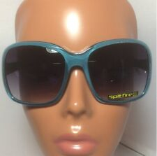New Spitfire Blue Square Dutchess Sunglasses With Pouch